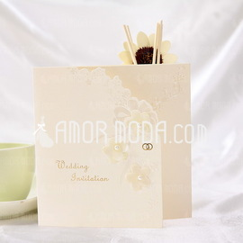 Stile Floreale Tri-Fold Invitation Cards (Set di 10) (114032362)