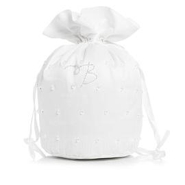 Eleganta Satin med Bärlbroderi/Imitation Pärla Brudväska (012003974)