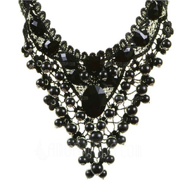 Punk Alloy Lace Women's Fashion Necklace (137053886)