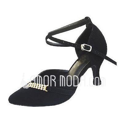 Femmes Nubuck Talons Escarpins Moderne avec Lanière de cheville Chaussures de danse (053013024)