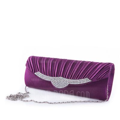 Glänzende Satin Handtaschen (012051953)