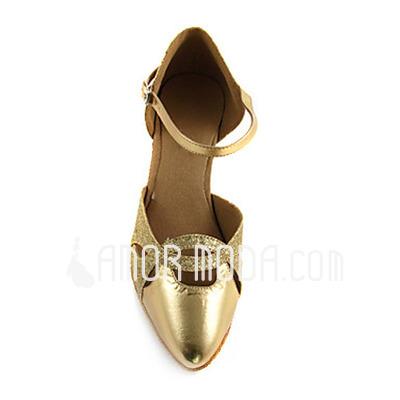 Vrouwen Imitatieleer Sprankelende Glitter Hakken Pumps Moderne Dansschoenen (053013528)