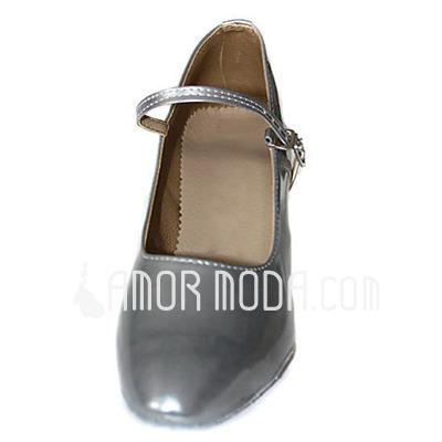 Vrouwen Patent Leather Hakken Pumps Moderne Dansschoenen (053013517)