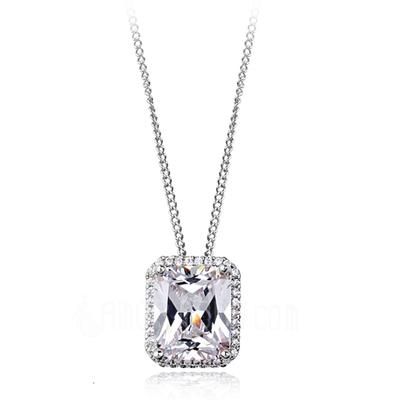 Schöne Legierung mit Zirkonia Damen Halsketten (011051765)