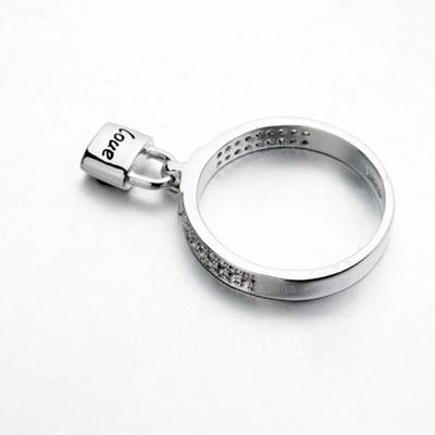 Einzigartige Legierung mit Strass Damen Ringe (011051723)