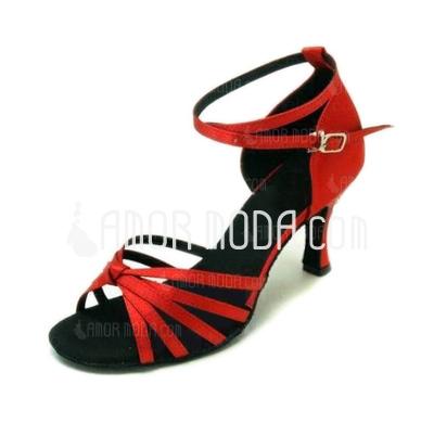 Kvinnor Satäng Sandaler Latin Dansskor (053008117)
