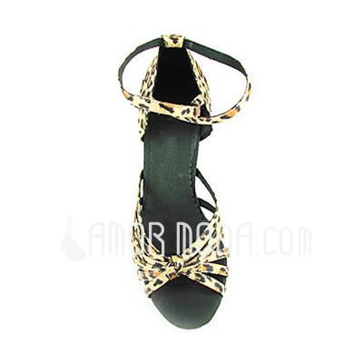 Vrouwen Satijn Hakken sandalen Latijn met Enkelriempje Dansschoenen (053013527)