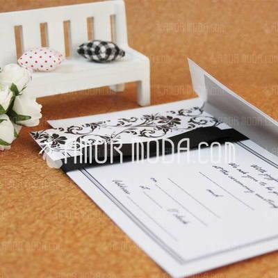 Estilo clásico Tarjeta plana Invitation Cards con Cintas (Juego de 50) (114030735)