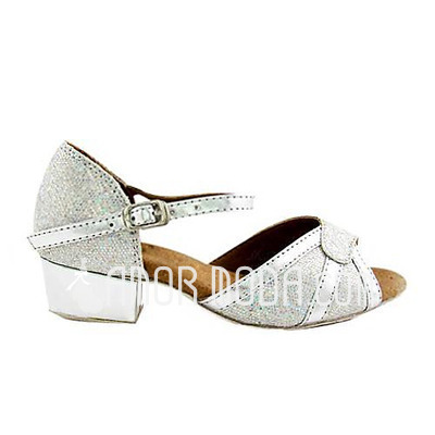 Vrouwen Kinderen Kunstleer Sprankelende Glitter Hakken Sandalen Flats Latijn Bruiloft Dansschoenen (053013451)