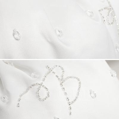 Elegante Satijn met Kralen/Imitatie Parel Bruidstasje (012003974)