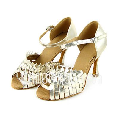 Vrouwen Patent Leather Hakken sandalen Latijn Dansschoenen (053013349)