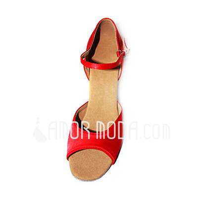 Vrouwen Satijn Hakken Sandalen Latijn Dansschoenen (053013197)