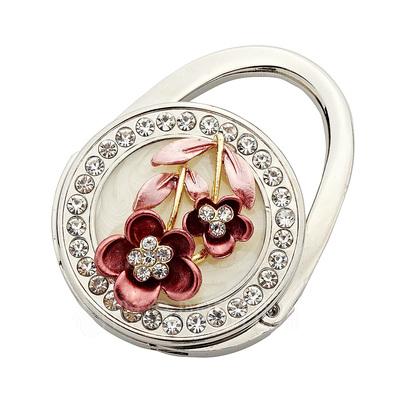 Blumen Blume Design Chrom Portemonnaie mit Strass (051032182)