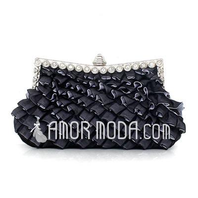 Prächtig Seide mit Rüschen Handtaschen (012027449)