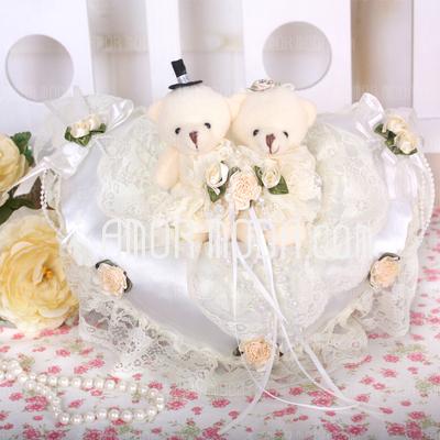Forma di cuore Anello cuscino con Orso di coppia (103018249)