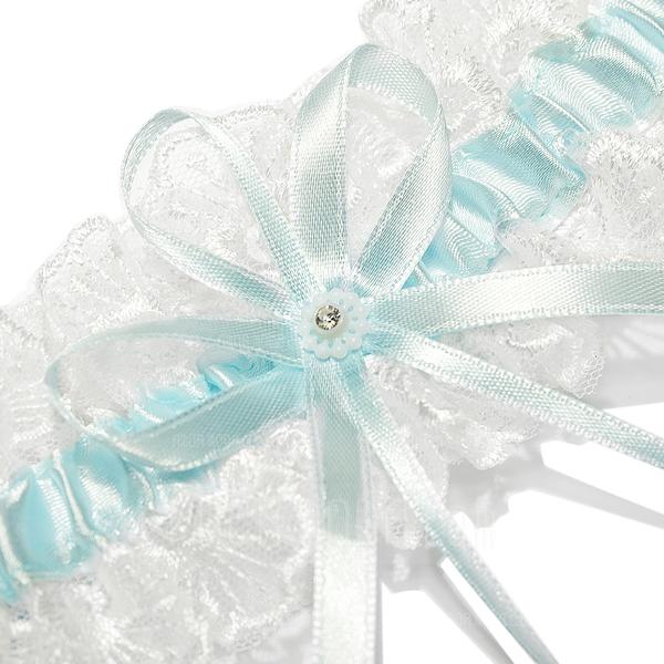 Prächtig Satiniert Schnur mit Bänder Hochzeit Strumpfbänder (104026910)