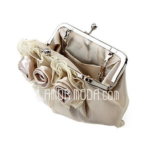 Prächtig Seide/Tüll mit Blume Handtaschen (012013430)