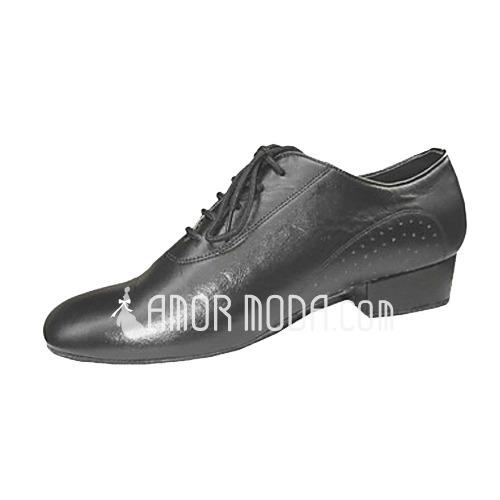 Mannen Echt leer Flats Ballroom Oefening Dansschoenen (053013145)