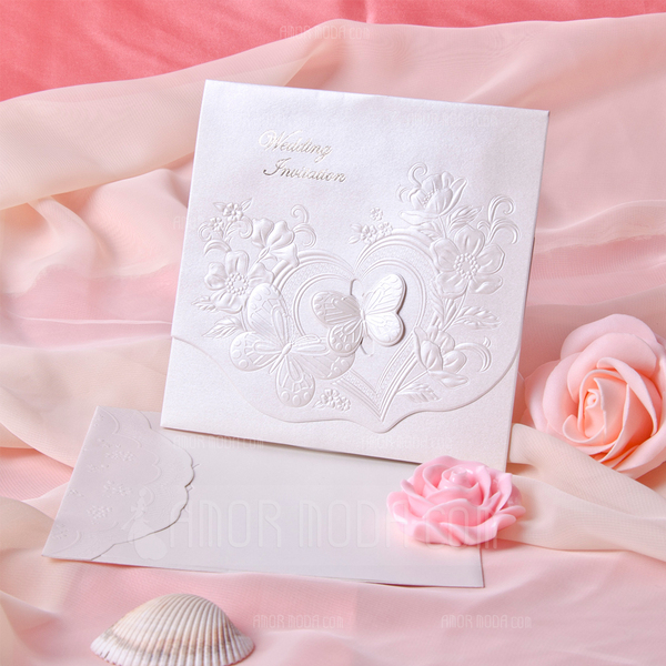 Schmetterling Stil Tri-Fold Invitation Cards (Satz 10) (114033284)