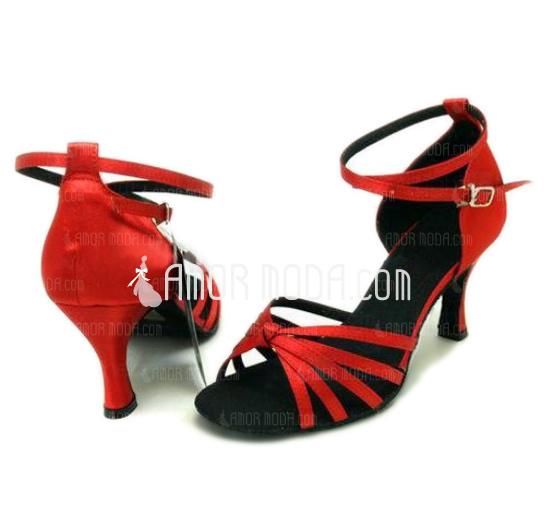 Vrouwen Satijn Sandalen Latijn Ballroom Dansschoenen (053008117)
