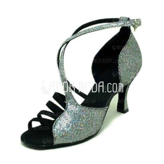 Vrouwen Sprankelende Glitter Sandalen Latijn Dansschoenen (053008215)