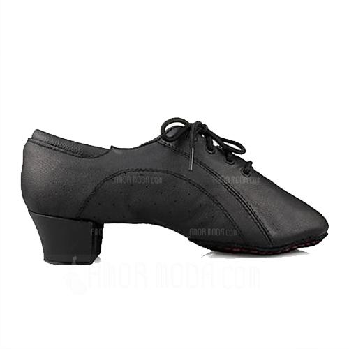Mannen Kinderen Echt leer Flats Latijn Ballroom Dansschoenen (053013126)