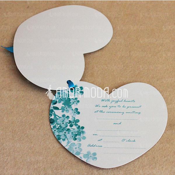 Personalizado En forma de corazón papel con Cintas (Juego de 50) (118032320)
