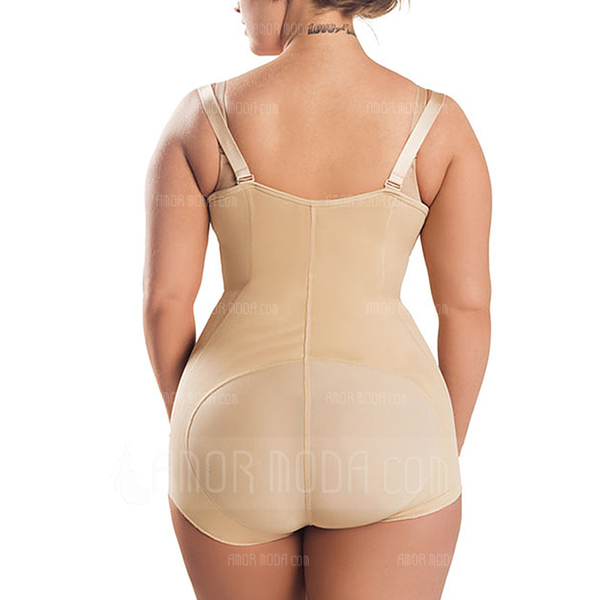 Women Sexy Polyester/Cotton/Chinlon High Waist Bodysuit Shapewear (125174627)