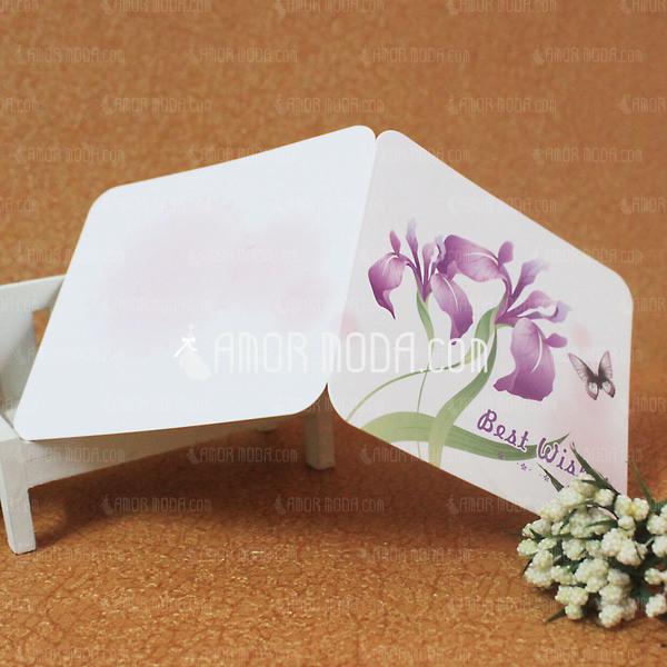 Florales Estilo/Estilo Mariposa Side Fold Tarjetas de felicitación (Juego de 10) (114031182)