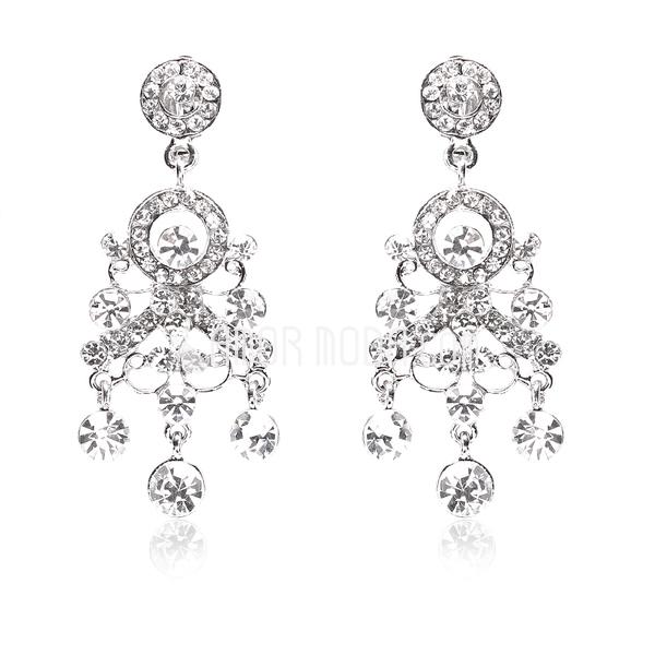 Gorgeous Alloy/Rhinestones Ladies' Earrings (011018485)