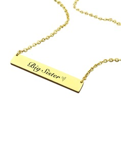 Bridesmaid Gifts - Personalized Solid Color Alloy Necklace (256178971)
