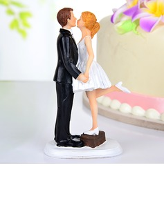 Kissing Couple Resin Wedding Cake Topper (122036162)