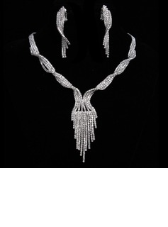 Shining Alloy/Rhinestones Ladies' Jewelry Sets (011017107)