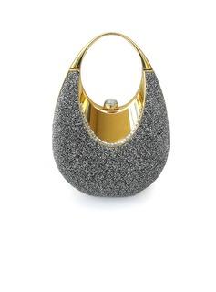 Luminoso Metal con Brillante Bolso de Mano/Funda de Monedas Para Bodas (012025491)