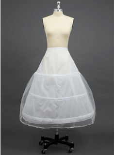 Women Tulle Netting/Polyester Floor-length 2 Tiers Petticoats (037033973)