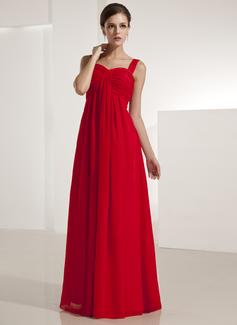 Empire Sweetheart Floor-Length Chiffon Bridesmaid Dress With Ruffle (007051845)