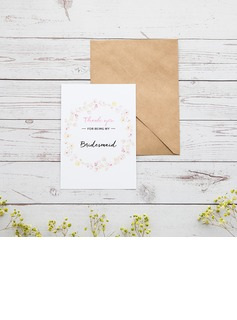 Bridesmaid Gifts - Classic Elegant Paper Wedding Day Card (256176232)