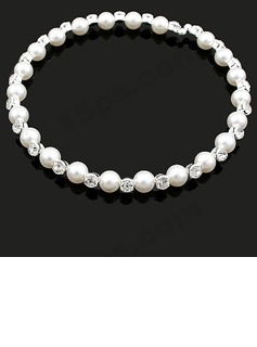 Beautiful Alloy/Pearl With Rhinestone Women's Necklaces (011035218)