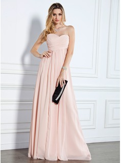 Evening Dresses Empire Sweetheart Floor-Length Chiffon Evening Dress With Ruffle (017022510)