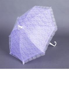 Sweet Terylene/Lace Wedding Umbrellas With Embroidery (124037471)