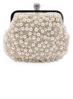 Pearl Style Imitation Pearl Clutches (012028132)