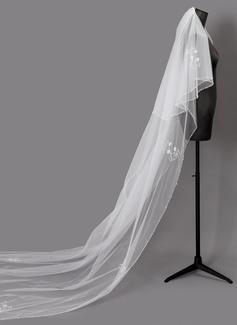 Dos capas Con abalorios Velos de novia catedral (006203716)