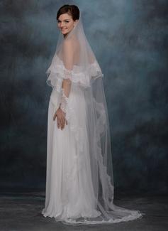 Uno strato Velare da sposa cappella con Bordi in pizzo (006020338)
