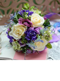 Colorful Free-Form Satin Bridal Bouquets (124032038)