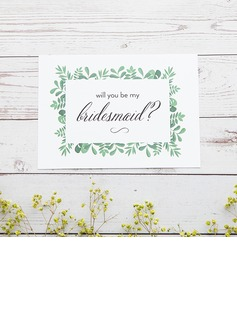 Bridesmaid Gifts - Classic Elegant Paper Wedding Day Card (256176219)