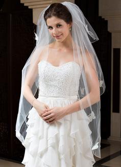 Three-tier Fingertip Bridal Veils With Pencil Edge (006035788)
