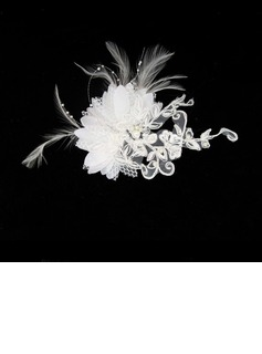 Gorgeous Piuma/Pizzo Fascinators/Pettine & clip di capelli con Perla Veneziano (042012232)