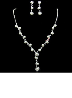 Elegant Alloy/Rhinestones With Imitation Pearls Women's Jewelry Sets (011027758)