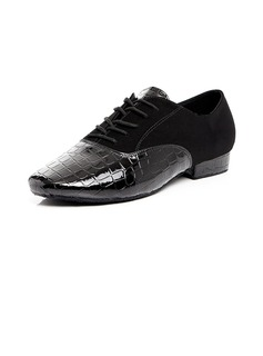 Men's Leatherette Modern With Lace-up Dance Shoes (053054498)