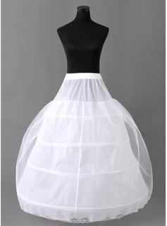 Women Nylon/Tulle Netting Floor-length 2 Tiers Petticoats (037004073)
